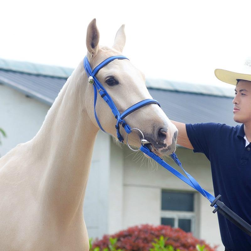 Durable Horse Head Collar Halter Horse Riding Bridle Horse Riding Equipment Halter PVC Horse Equestrian Accessories