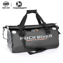 ROCK BIKER Motorcycle Waterproof Tail Bags Black Back Seat Bags 50L Travel Bag Scooter Sport Luggage Rear Seat Rider Bag Pack цена и фото