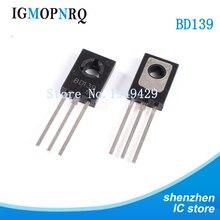 50 قطعة شحن مجاني BD139 D139 TO 126 NPN 1.5A 80 فولت NPN الفوقي الثلاثي الترانزستور جديد الأصلي