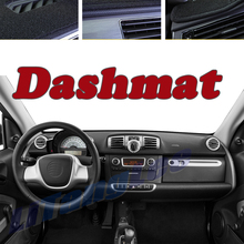 Car DashMat Cover Sun Protection Carpet Anti Slide Pad For Smart ForFour ForTwo W453 C453 2014~2021 Insulated Dash Mat