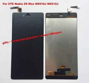 Image 1 - עבור ZTE נוביה Z9 מקס NX510J NX512J שחור/לבן מלא LCD תצוגת לוח מגע מסך Digitizer זכוכית עצרת החלפה + כלים