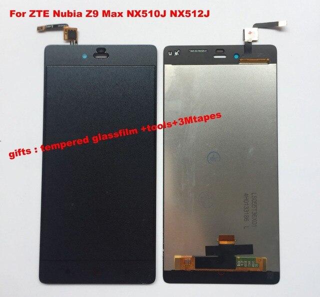 עבור ZTE נוביה Z9 מקס NX510J NX512J שחור/לבן מלא LCD תצוגת לוח מגע מסך Digitizer זכוכית עצרת החלפה + כלים