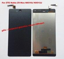 Zte ヌビア Z9 最大 NX510J NX512J 黒/ホワイトフル Lcd ディスプレイのタッチパネルスクリーンデジタイザガラスアセンブリの交換 + ツール