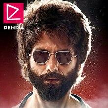 DENISA Luxury Brand Vintage Square Sunglasses For Men Kabir