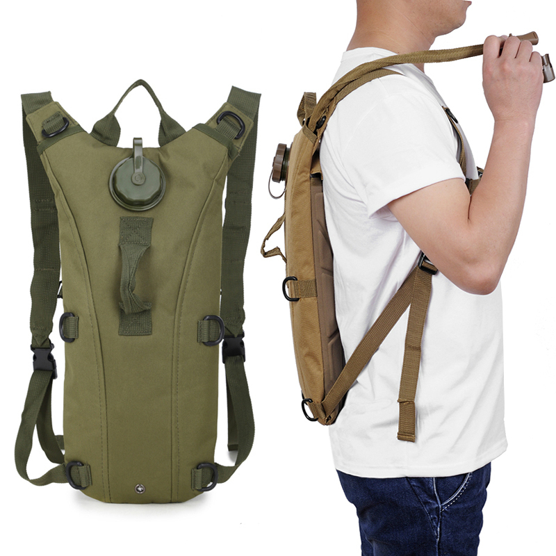 Tactical Hydration Backpack Water-Bag Cycling Military Nylon Hiking Outdoor Running Camping