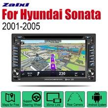 ZaiXi Android Car Radio Stereo DVD GPS Navigation For Hyundai New EF Sonata 2001~2005 Bt wifi 2din Multimedia