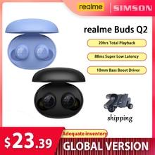 Realme芽Q2イヤホンイヤフォンtwsワイヤレスencイヤフォンIpx4防水20hバッテリーインテリジェントタッチコントロールゲームモデル