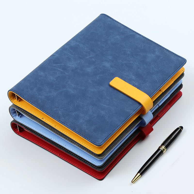A5 Leather Spiral Notebook Original Office Personal Diary / Week Planner Agenda Organizer Ring Stationery Binder 2020 Agenda