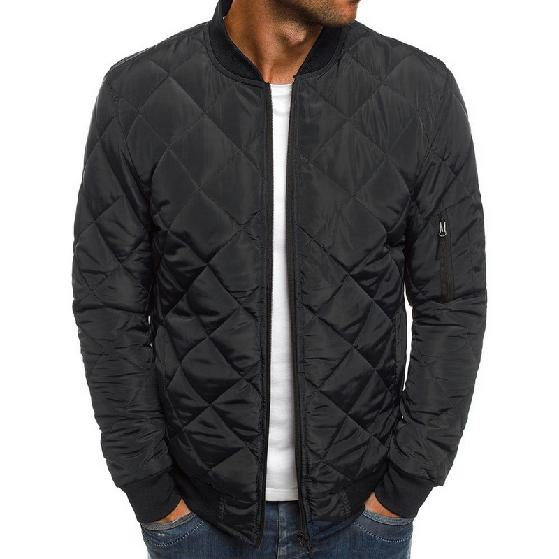 Puimentiua 2019 Slim Warm Coats Autumn Winter Men's Lightweight Windproof Packable Warm Jacket Solid Color Jackests Outwear