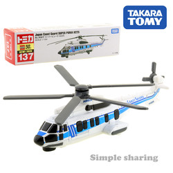 Takara tomy tomica #137 guarda costeira super puma h225 escala 1/124 diecast
