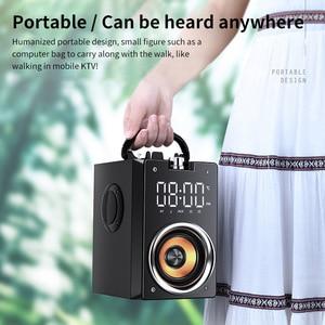 Image 4 - Bluetooth hoparlör taşınabilir büyük güç kablosuz 2200mAh Subwoofer ağır bas Stereo müzik çalar lcd ekran FM radyo TF
