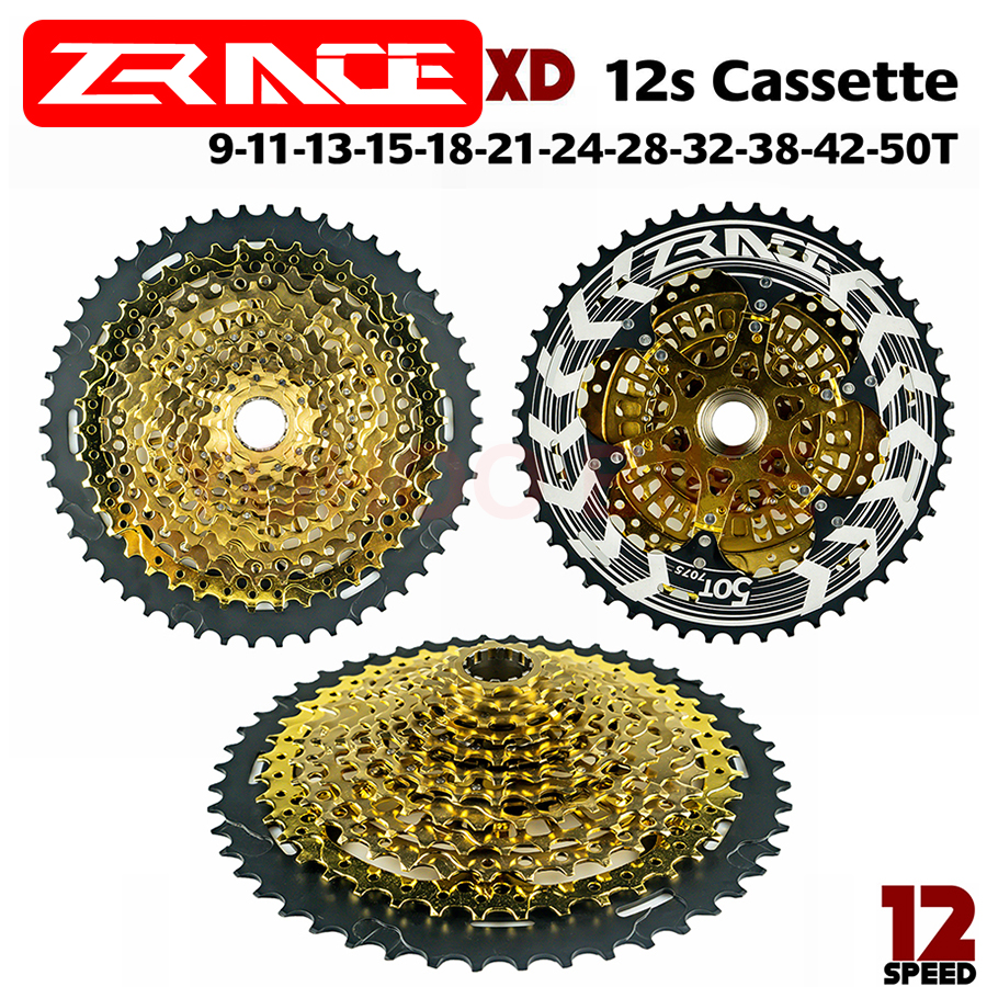 ZRACE ALPHA Bike 12s XD Cassette Gold 12 Speed MTB Bicycle reewheel 9-50T Compatible SRAM XD freehub, XX1 X01 GX NX Eagle image