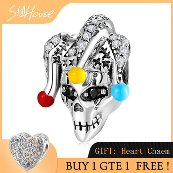 Colorful clown mask 925 Sterling Silver CZ Fine beads Fit Original Pandora Charm Bracelet Jewelry making fashion trend 925 sterling silver sparkling colourful cz beads fit original pandora charm bracelet jewelry making page 2