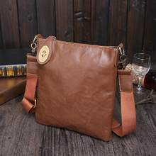 New Korean fashion shoulder bag mens minimalist retro leather Messenger bags