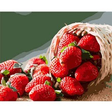 Framed Fruit Strawberry Pictures DIY Hand Painted Canvas Oil Paintings Modern Decoration Home Wall Art