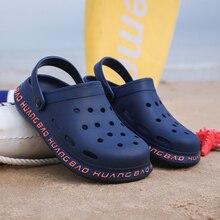 2020 new couple sandals hole shoes unisex slippers hole garden shoes Crocse Adulto Cholas Hombre san