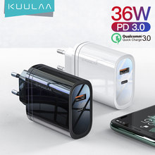 KUULAA PD chargeur Charge rapide 4.0 3.0 36W USB chargeur PD 3.0 Charge rapide chargeur de téléphone pour Xiaomi Mi 9 8 iPhone X XR XS Max