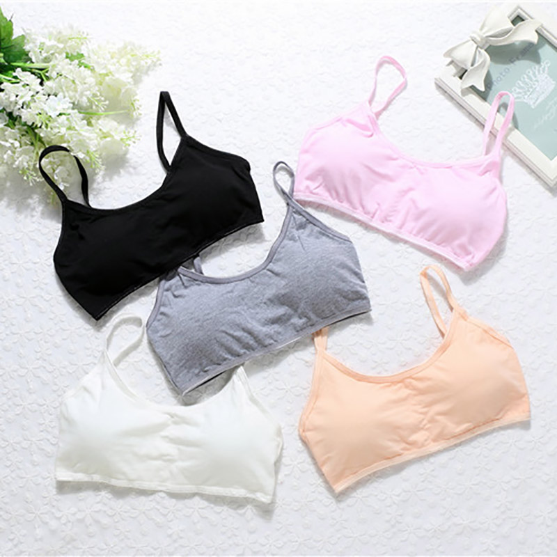 Women Cotton Padded Bras Tube Top Sweet Sling Wire Free for Girls