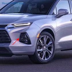 Carro capa de automóvel estilo para chevrolet blazer 2019 2020 abs chrome frente cabeça nevoeiro lâmpada luz guarnição estilo do carro acessórios 2 pçs