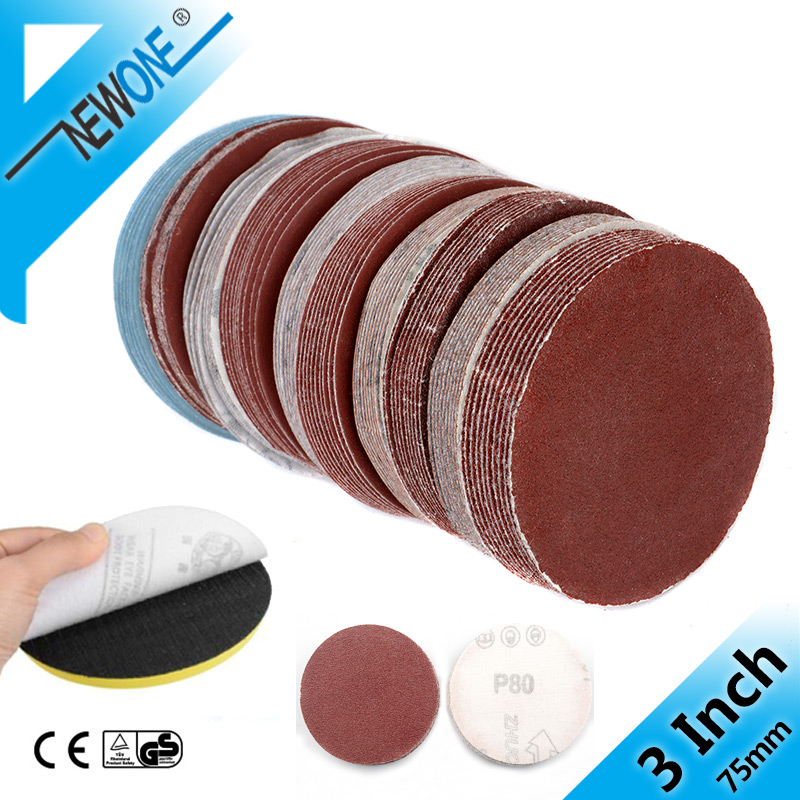3 Inch 75mm Sandpaper 10PCS Sanding Disc 60-2000 Grit  For Dremel Sander Machine Self Stick Abrasive Tools Accessories