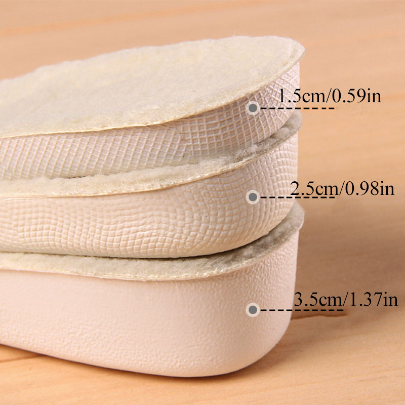 Зимние невидимые стельки для обуви, утепленные шерстяные стельки для увеличения роста, 1 пара, мужская и женская обувь на плоской подошве|Стельки|   | АлиЭкспресс