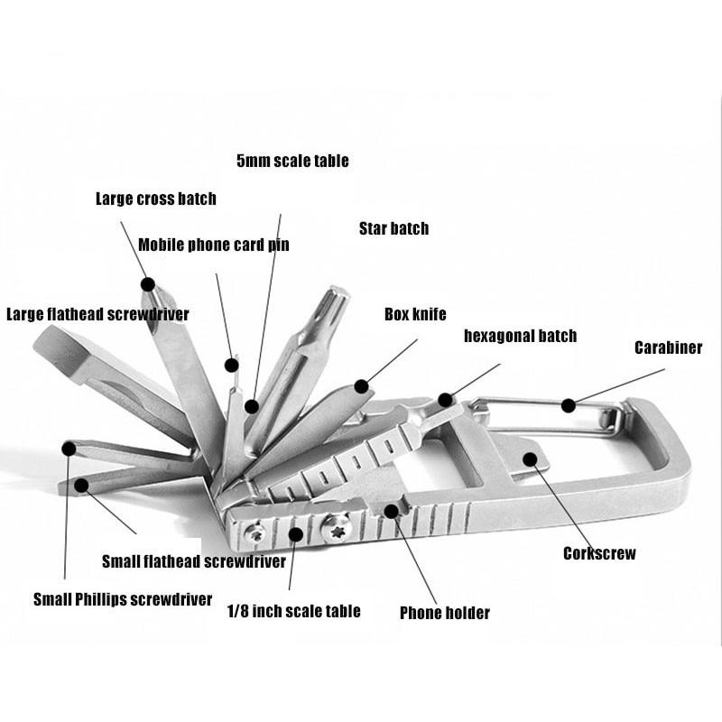 13 В 1 Открытый Многофункциональный Инструменты Открытый Отвертка Гаечный ключ Комбинация +Аварийный Инструмент Набор Нержавеющая Сталь Бутылка Открывалка