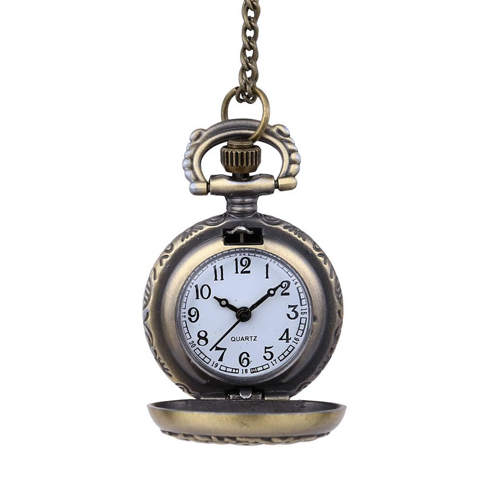 Men And Women Couple Pocket Watch Retro Quartz Hanging Table Commemorative Table Watch Clock Wholesale Relogio De Bolso #4D04