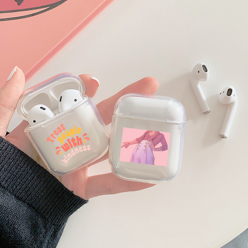 Fashion Harry Styles Fine Line Love Clear Earphone Case For Airpods 1 2 Soft Silicone Wireless Bluetooth Earphone Cover Air Pods