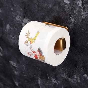 QIAOYAN Christmas Pattern Printing Roll Toilet Paper Household Tissue Bathroom Web