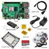 raspberry pi 4 4gb kit  Raspberry Pi 4 Model B PI 4B   Board Heat Sink Power Adapter Case  fan  32GB SD HDMI Cable Gamepad discount