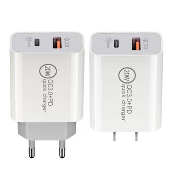 QC3 0 rodzaj USB C szybka ładowarka dla większości telefonów domu wtyczka podróżna kompatybilny z telefonów komórkowych tabletów Power banki itp tanie i dobre opinie Crust Pro NONE inny CN (pochodzenie) Mobile Phone Charger ABS White Approx 2 4x4 4x8cm 0 94x1 73x3 14inch