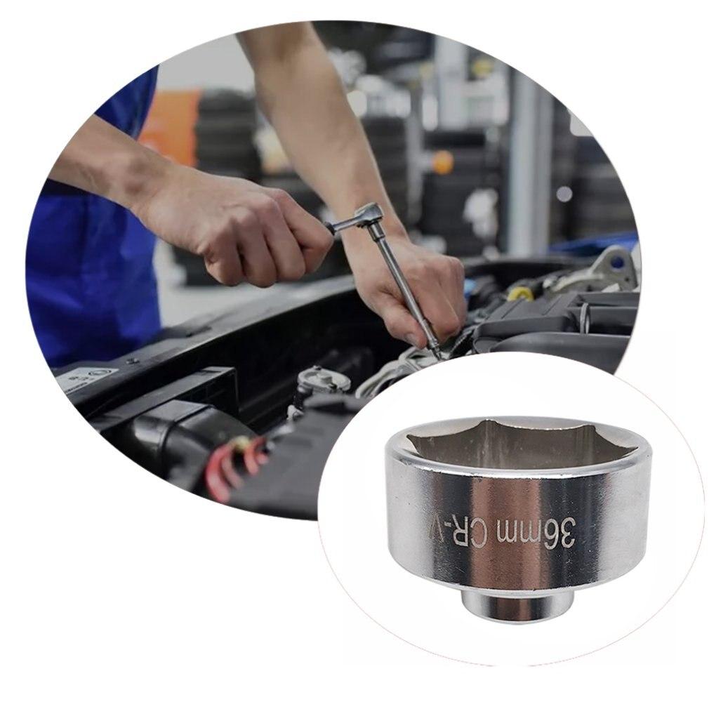 Novo 36mm motor chave de óleo métrica baixo perfil filtro de óleo chave soquete remover caixa canister para ferramentas manuais