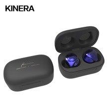 2021 KINERA YH623 Mini TWS Bluetooth 5.0 HIFI w uchu słuchawka dotykowa bezprzewodowa z mikrofonem redukcja szumów słuchawki douszne Sport Bass IEM