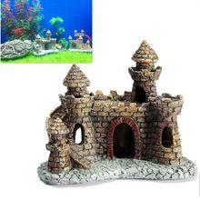 1 шт., винтажные аквариумы, мультяшный замок, украшения из смолы, замок, башня, украшения для аквариума, аксессуары, товары для украшения дома