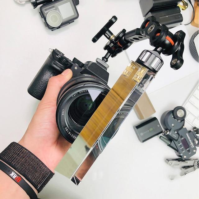VLOG filtre à lentille triangulaire photographie cristal filtre magique lumière cristalline Halo lentille en verre optique pour caméscopes appareil photo reflex numérique