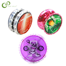 3 pièces en plastique alliage LED lumineux yo-yo éblouissement yoyo classique enfants jouets balle avec balle corde cadeau jouet Diabolo cadeau enfants jouet YJN