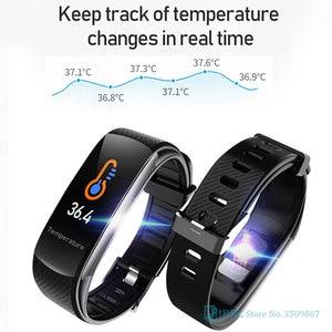 Image 4 - 2020ใหม่สมาร์ทนาฬิกาผู้หญิงผู้ชายอุณหภูมิSmartWatch Fitness Tracker Heart Rate Monitorนาฬิกาสมาร์ทสำหรับAndroid IOS