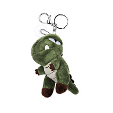 2020 New Cartoon Dinosaur Key chain Dinosaur Tiger Plush children's Toy Key Chains For Women Birthday Gift Car Pendant Key Ring larggest size 170cm simulation tiger yellow or white prone tiger plush toy surprised birthday gift w5490