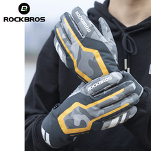 Motorcycle-Mtb-Gloves Touch-Screen Electric-Bicycle-Scooter ROCKBROS Waterproof Winter