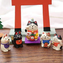 Kawaii Cartoon Miniature Animals Figurines Lucky Cat Fairy G