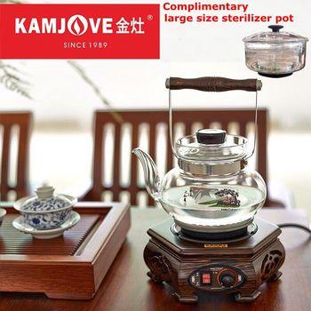 KAMJOVE T-40 Wooden tea ceremony tea stove machine automatic boiling tea glass pot classical Wenge tea art stove