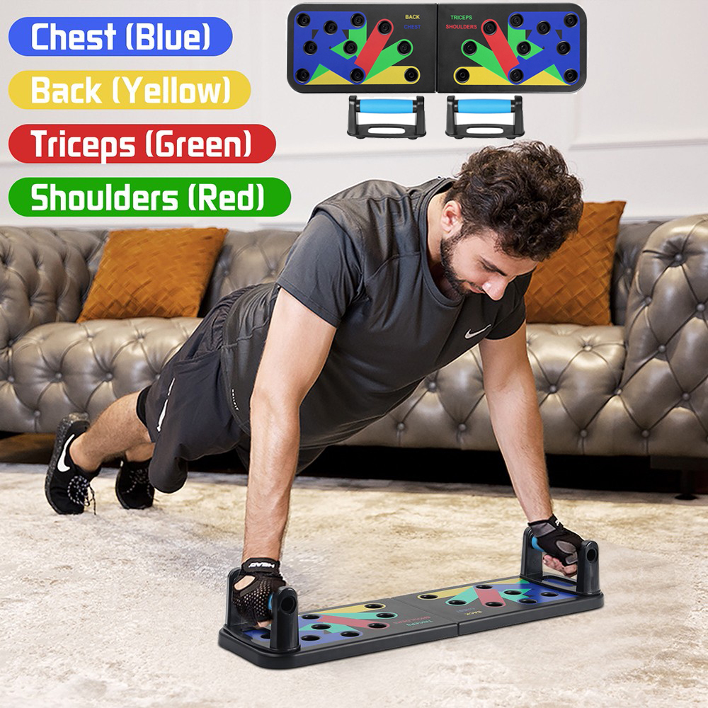 Foldable Multifunctional Body Building Push Up Board Home Gym Fitness Sport Equipment Abdominal Muscle Plate