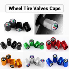 Car Styling 4pcs Wheel Tire Valve Stem Caps Cover For Renault  Peugeot Mercedes AMG Mustang Chevrole Nissan Cadillac Audi SAAB