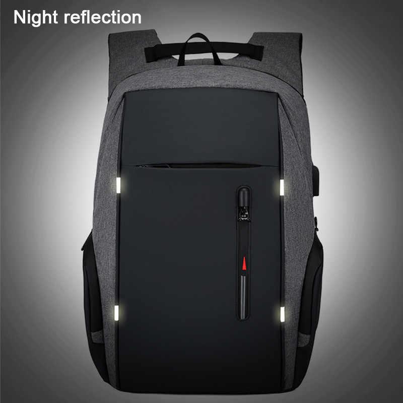 Sırt çantası erkekler USB şarj su geçirmez Laptop sırt çantası kadın rahat Oxford erkek iş çantası 15.6 inç bilgisayar dizüstü sırt çantaları