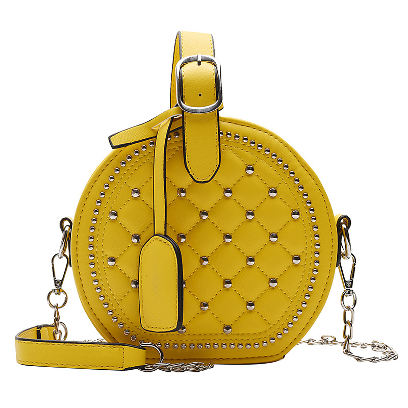 2019 New Fashion Women Round Bag Chains Luxury Handbags Women Bags Designer Small Shoulder Bags Female Purse Black Yellow Red