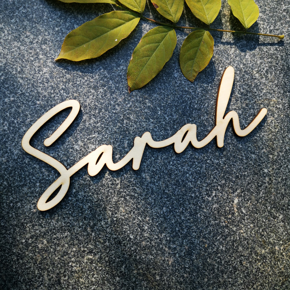 Custom Mirror Rose Gold Acrylic Baby Name Sign Pesonalized Name Wood Sign Wedding Baby Shower Party Nursery Wall Decoration Art