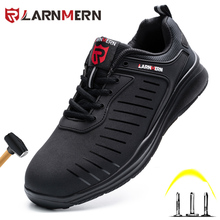 Safety-Shoes Sneakers Construction-Work Lightweight Non-Slip Steel-Toe LARNMERN Anti-Smashing