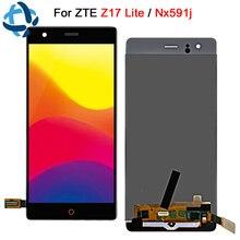 """5.5 """"para zte nubia z17 lite display lcd digitador assembléia tela do painel de toque nx591j lcd para zte z17 lite peça substituição"""