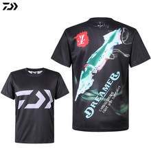 Daiwa Clothes for Fishing Summer Tshirt Breathable Anti-sweat Sport Quick Dry T-shirt Anti-uv Men Outdoor Cycling Fishing Tshirt(China)