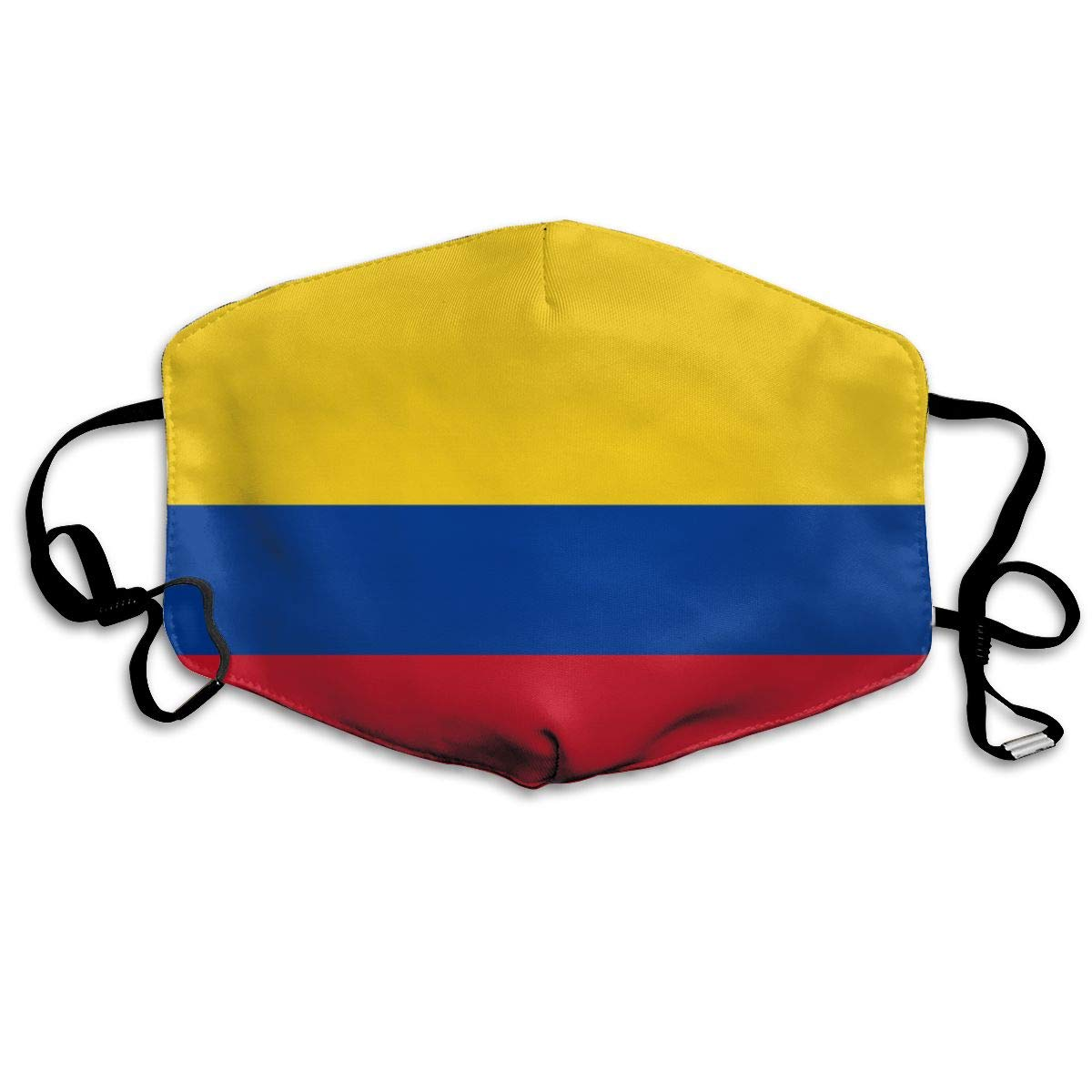 Colombia Flags Of Countries Washable Reusable   Mask, Cotton Anti Dust Half Face Mouth Mask For Kids Teens Men Women With